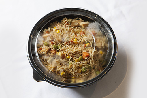 chicken egg noodles - container closed