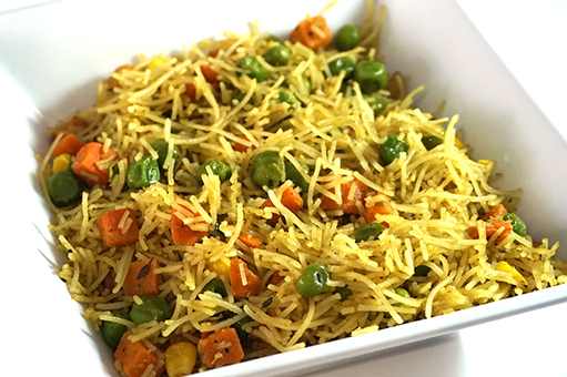 mixed vegetable rice noodles
